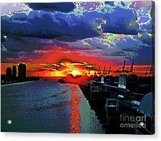 Miami Docks Acrylic Print