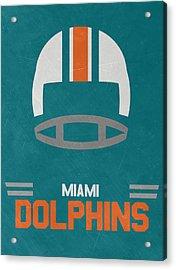 Miami Dolphins Vintage Art Acrylic Print