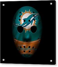 Miami Dolphins War Mask 3 Acrylic Print