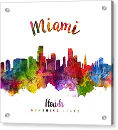 Miami Florida 23 Acrylic Print by Aged Pixel