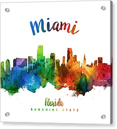 Miami Florida 25 Acrylic Print by Aged Pixel