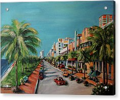 Miami For Daisy Acrylic Print by Dyanne Parker