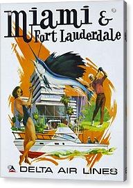 Miami - Ft Lauderdale Acrylic Print