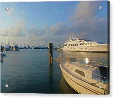 Miami Harbor Acrylic Print by JAMART Photography