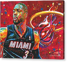 Miami Heat Legend Acrylic Print