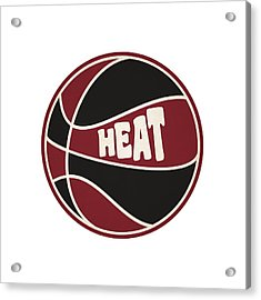 Miami Heat Retro Shirt Acrylic Print