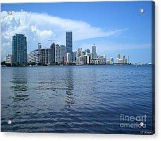 Miami Acrylic Print by Keiko Richter