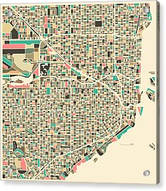 Miami Map Acrylic Print