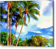 Miami Maurice Gibb Memorial Park Acrylic Print by Patrice Torrillo