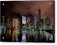 Miami Acrylic Print by Nelson Rodriguez