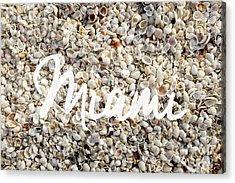 Miami Seashells Acrylic Print