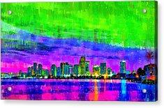 Miami Skyline 154 - Pa Acrylic Print
