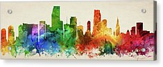 Miami Skyline Panorama Usflmi-pa03 Acrylic Print