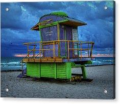Miami - South Beach Lifeguard Stand 004 Acrylic Print
