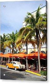 Miami South Beach Ocean Drive 8 Acrylic Print by Nina Prommer