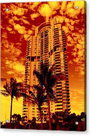 Miami South Pointe IIi Highrise Acrylic Print