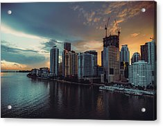 Miami Sunset Acrylic Print