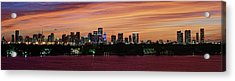 Acrylic Print featuring the photograph Miami Sunset Panorama by Gary Dean Mercer Clark
