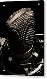 Mic Acrylic Print by Brian Jones