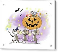 Mic, Mac, And Moe's Happy Halloween Acrylic Print