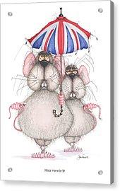 Mice Here In'it Acrylic Print by John Faulkner