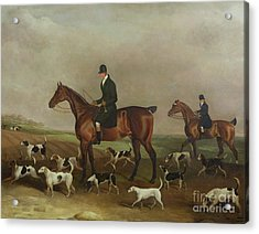 Michael Beverley With His Whipper In And Harriers Acrylic Print