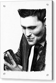 Michael Buble Acrylic Print by Rosalinda Markle