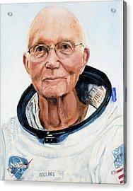 Michael Collins Acrylic Print by Simon Kregar