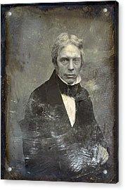Michael Faraday 1791-1867 English Acrylic Print by Everett