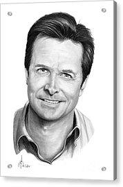 Michael J. Fox Acrylic Print by Murphy Elliott