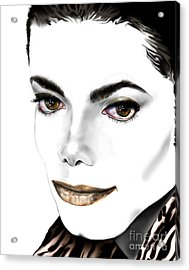 Michael J Acrylic Print by Reggie Duffie