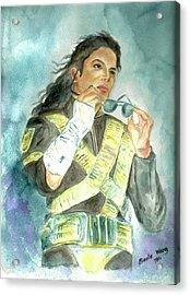 Michael Jackson - Dangerous Tour  Acrylic Print by Nicole Wang