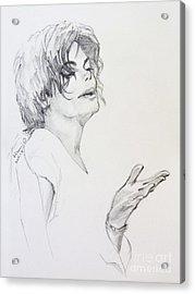 Michael Jackson - In 2001 Ny Acrylic Print by Hitomi Osanai