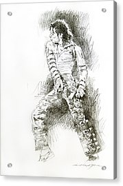 Michael Jackson - Onstage Acrylic Print by David Lloyd Glover