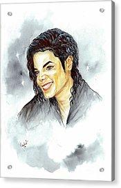 Michael Jackson - Smile Acrylic Print by Nicole Wang