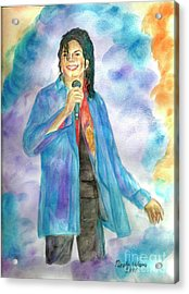 Michael Jackson - The Final Curtain Call Acrylic Print by Nicole Wang