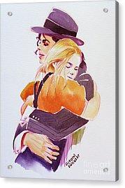 Michael Jackson - With Katie Acrylic Print