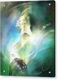 Michael Jackson 15 Acrylic Print by Miki De Goodaboom
