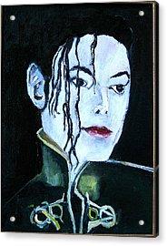 Michael Jackson 2 Acrylic Print by Udi Peled