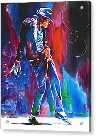 Michael Jackson Action Acrylic Print by David Lloyd Glover