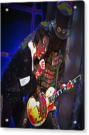 Michael Jackson And Slash Acrylic Print by  Fli Art