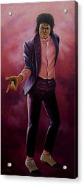 Acrylic Print featuring the painting Michael Jackson-billy Jean by Loxi Sibley