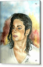 Michael Jackson Black Or White Acrylic Print by Nicole Wang