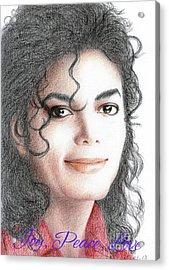 Michael Jackson Christmas Card 2016 - 001 Acrylic Print