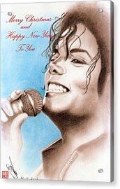 Michael Jackson Christmas Card 2016 - 005 Acrylic Print