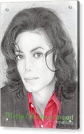 Michael Jackson Christmas Card 2016 - 006 Acrylic Print