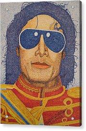 Michael Jackson Acrylic Print by Clifton Dobbs