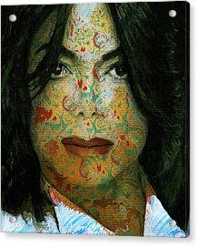 Michael Jackson Color Stamp 2 Acrylic Print