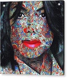 Michael Jackson Color Stamp Acrylic Print