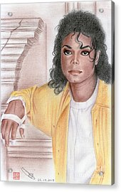 Michael Jackson - Come Together Acrylic Print by Eliza Lo